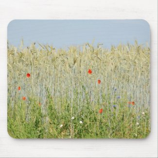 Field edge OF A corn field Mouse Pad