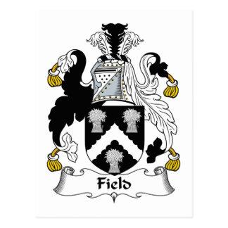 Field Family Crest Postcard