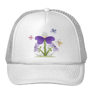Field Flowers and Butterflies Trucker Hat