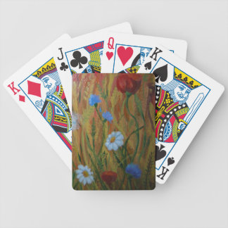 Field flowers bicycle playing cards