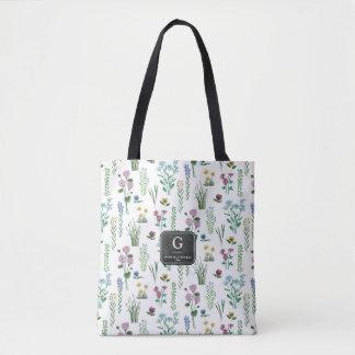 Field Flowers Floral Pattern | Tote bag