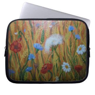 Field flowers Neoprene Laptop Sleeve 10 inch