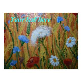 Field flowers postcard