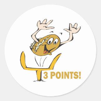 Field Goal Classic Round Sticker