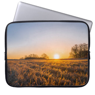 Field Happy Sunset Computer Sleeve