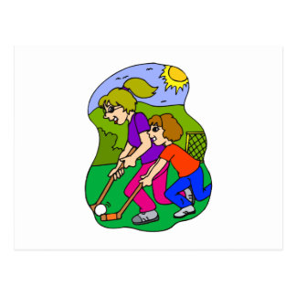 Field Hockey 2 girls Postcard