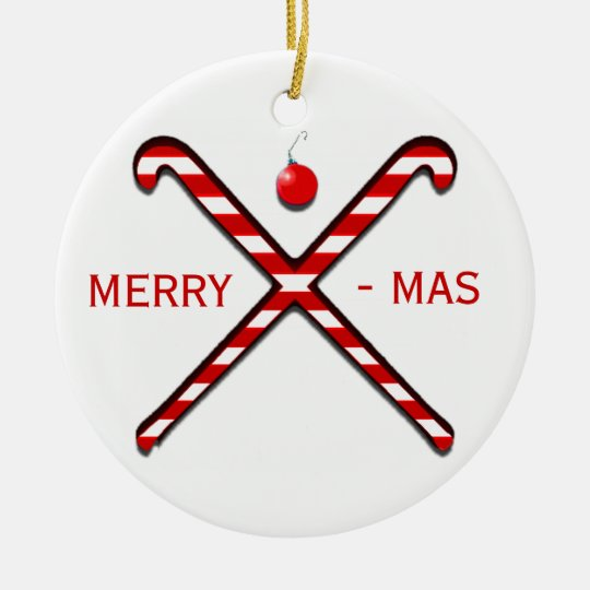 Field Hockey Christmas Ceramic Ornament   Zazzle.com