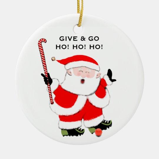Field Hockey Christmas Collectible Ceramic Ornament   Zazzle.com