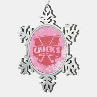 Field Hockey Christmas Snowflake Tree Ornament