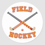 Field Hockey Classic Round Sticker