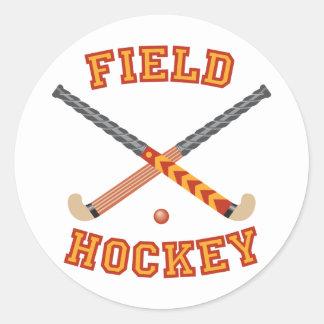 Field Hockey Classic Round Sticker