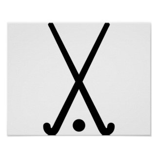 Field hockey clubs ball poster