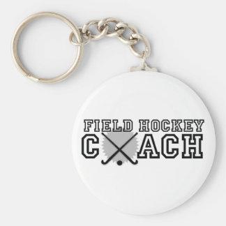 Field Hockey Coach Basic Round Button Keychain