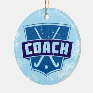 Field Hockey Coach Christmas Tree Decoration Ornament