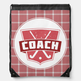 Field Hockey Coach Drawstring Bag Backpack