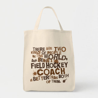 Field Hockey Coach Gift Grocery Tote Bag
