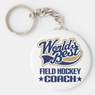 Field Hockey Coach Gift Keychain