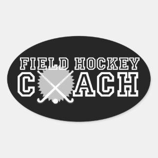 Field Hockey Coach Oval Sticker