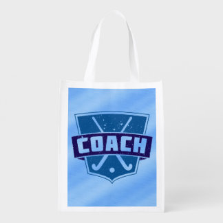 Field Hockey Coach Reusable Grocery Bags