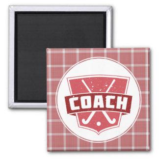 Field Hockey Coach Shield Fridge Magnet