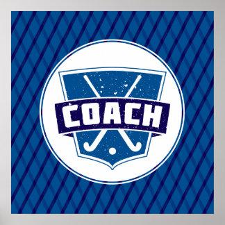 Field Hockey Coach Shield Poster Print