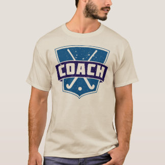 Field Hockey Coach Shield Tee