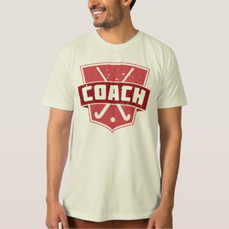 Field Hockey Coach Shield Tee Shirt