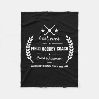 Field Hockey Coach Team Thank You Gift Custom Fleece Blanket