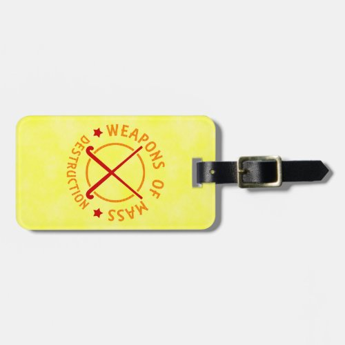 Field Hockey Customizable Luggage Tag Template
