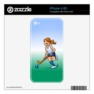 Field  hockey girl decals for the iPhone 4S