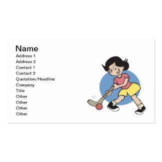 Field Hockey Girl Player Business Card Templates