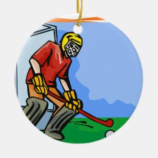 Field Hockey goalie boy Ornaments