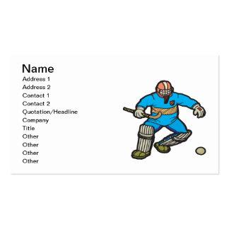 Field Hockey Goalie Business Card