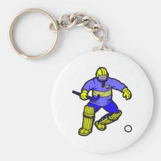 Field Hockey goalie Basic Round Button Keychain