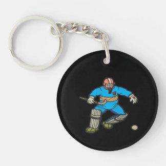 Field Hockey Goalie Keychain