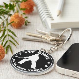 Field Hockey Goalie 'My Goal' Keyring Double-Sided Round Acrylic Keychain