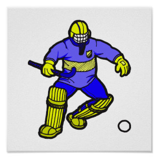 Field Hockey goalie Poster