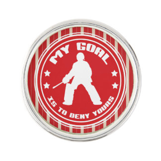 Field Hockey Goalie Quote Lapel Button Pin