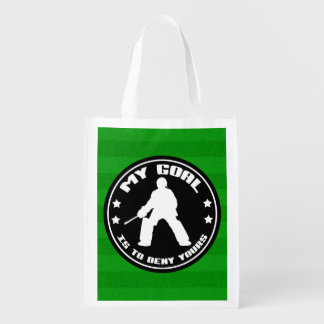 Field Hockey Goalie Quote Reusable Grocery Bag