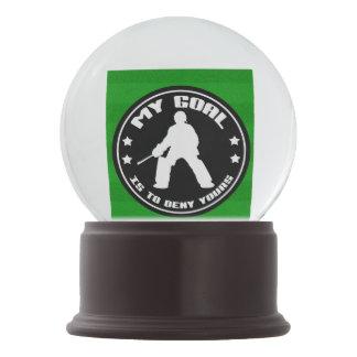 Field Hockey Goalie Quote Snow Globe