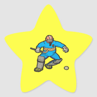 Field Hockey Goalie Star Sticker