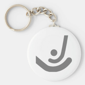 Field Hockey  Gray sticks & ball Logo Basic Round Button Keychain