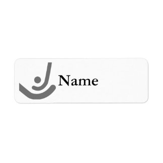 Field Hockey  Gray sticks & ball Logo Return Address Label