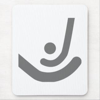 Field Hockey  Gray sticks & ball Logo Mouse Pad