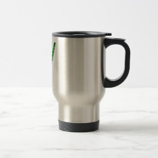 Field Hockey green stick Travel Mug