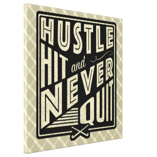 Field Hockey Hustle, Hit And Never Quit Print