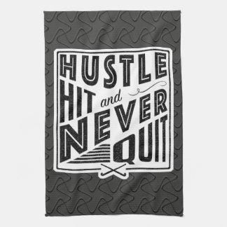 Field Hockey Hustle, Hit And Never Quit Tea Towel