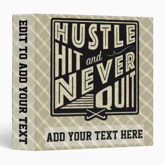 Field Hockey Hustle Hit & Never Quit 3 Ring Folder