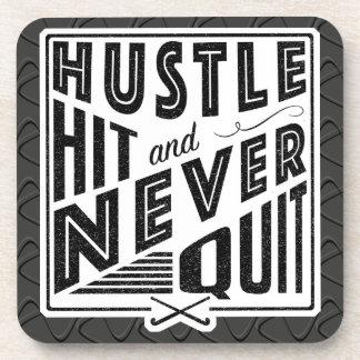 Field Hockey Hustle Hit Never Quit Coaster Set