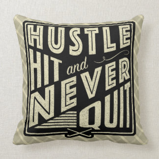Field Hockey Hustle, Hit & Never Quit Cushion